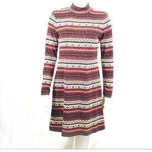 Dresses & Skirts - Fair isle long sleeve sweater dress - S